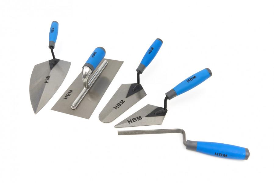 HBM 5 Delige Pleister Troffel Set Met Soft Grip Handgrepen