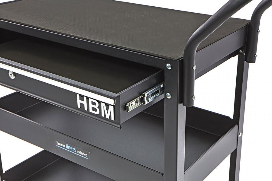 HBM Deluxe 3 Laags Universele Gereedschapswagen Met La en Rek