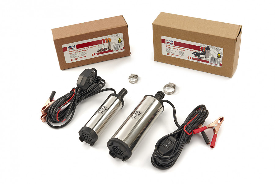 HBM 12 Volt Mini RVS Hevelpomp, Vloeistofpompen