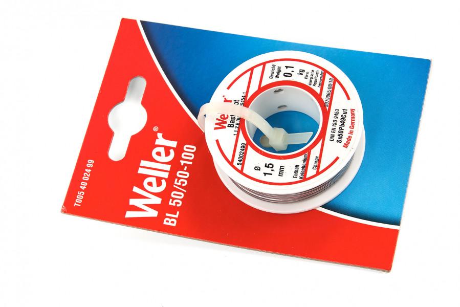 Weller BL 50/50 Soldeertin - 1,5 mm - 100g - T0054002499
