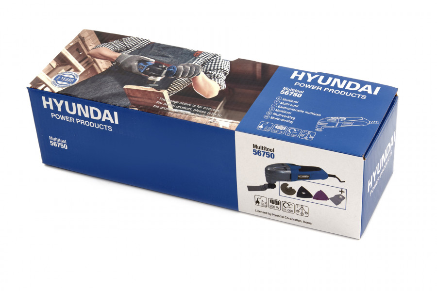 Hyundai Multitool 200W - Roterend / Oscillerend - incl. Accessoires