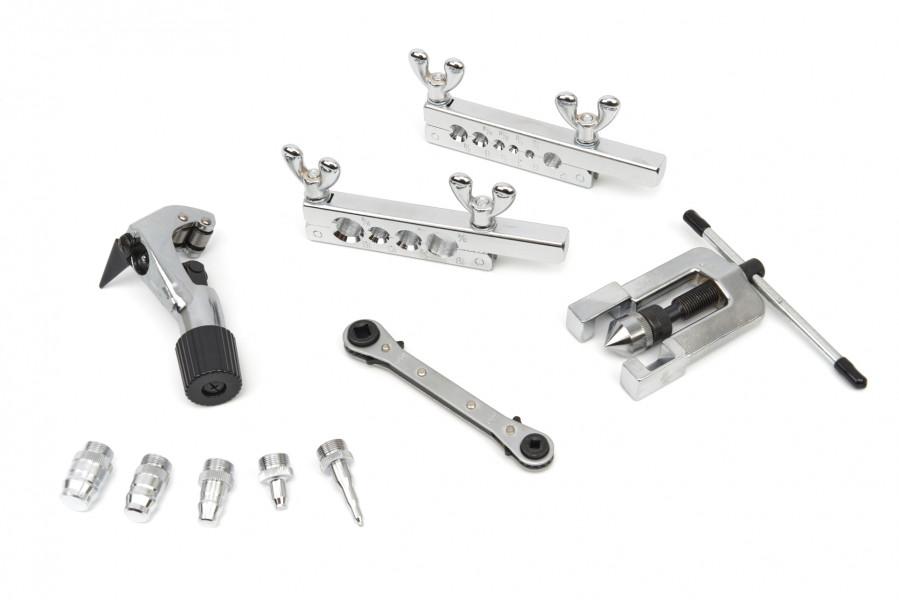 HBM 10 Delige Remleiding Felsset met pijpsnijder, Buissnijder Set Deluxe