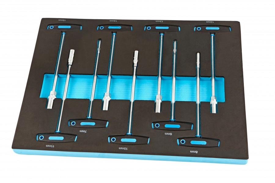 HBM 9 T-Greep Dopsleutel Foam inlay voor Gereedschapswagen