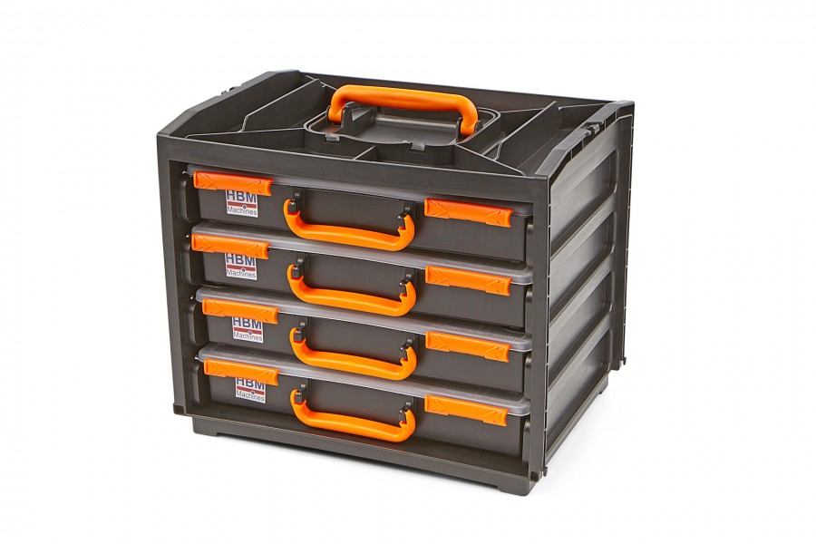 HBM 5 Delige Draagbare Assortimentsdoos, Assortimentskoffer Deluxe