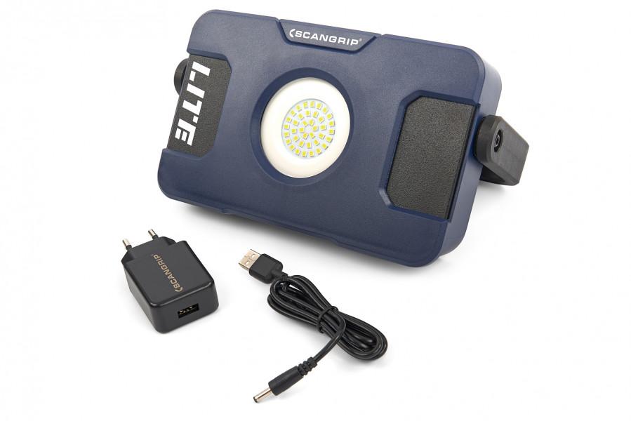 Scangrip 03.5630 Flood Lite S LED Bouwlamp - Oplaadbaar - 1000Lm