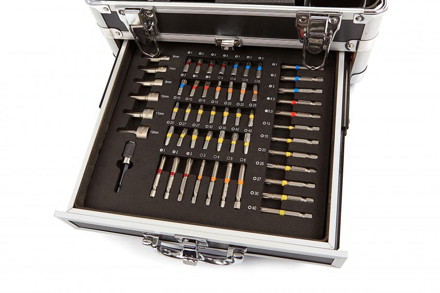 Hitachi DS18DJL 18V 1,5 AH In Alu Koffer met 54 Delige Accessoires