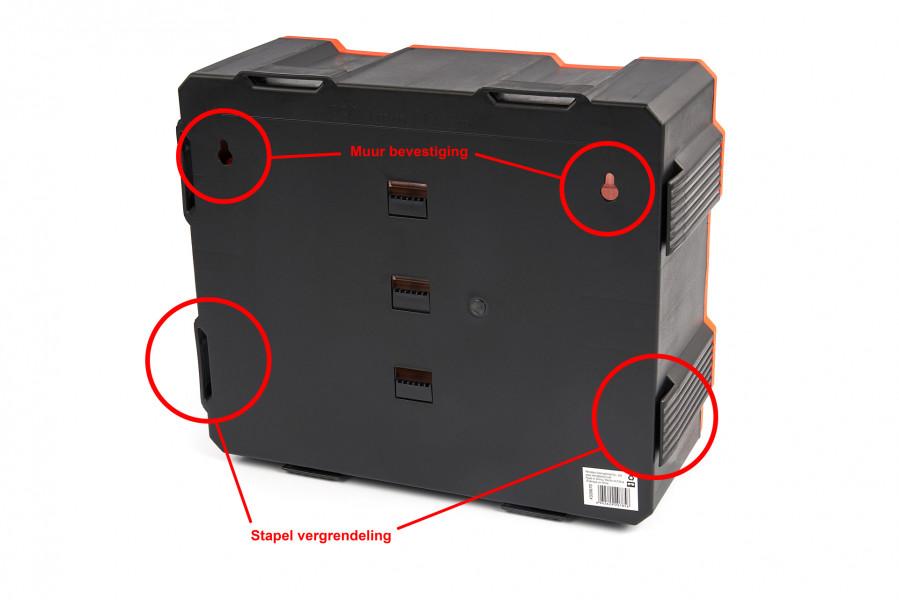 Tactix 5 Delig Opbergsysteem, Assortimentsdozenset