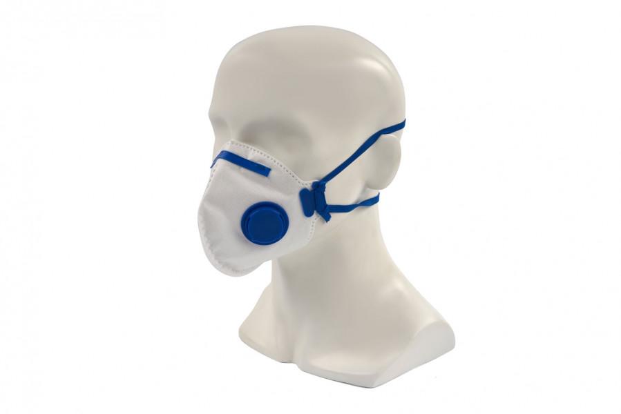 Silverline Plat Vouwbaar FFP2 Stofmasker met Ventiel Enkel Gebruik