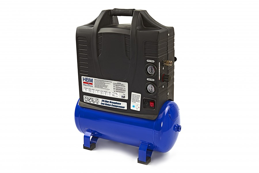 HBM 20 Liter Draagbare Low Noise Compressor