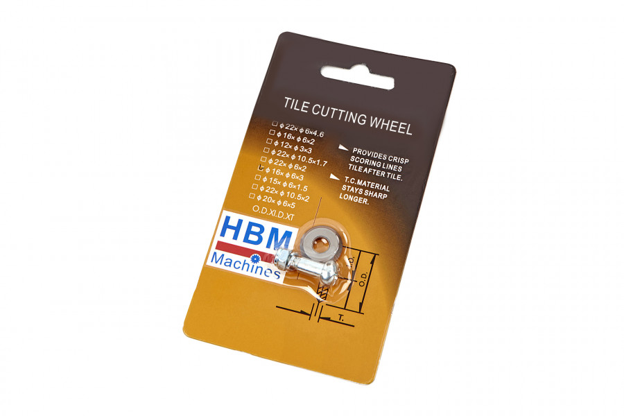 HBM Professionele Tegelsnijder 600 mm Inclusief 2 Snijwielen
