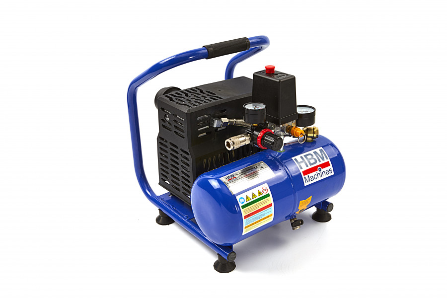 HBM 4 Liter Draagbare Low Noise Compressor