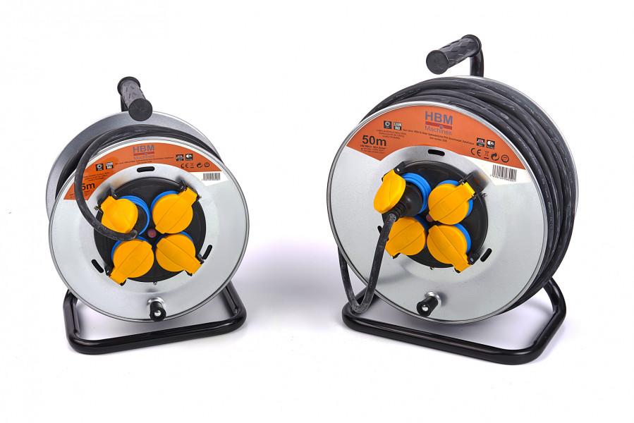 HBM Spatwaterdichte IP44 Stroomhaspel, Kabelhaspel 3 x 1,5 mm