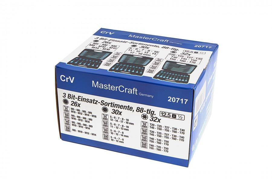 Mastercraft 88 Delige Inbus, Torx en Meertand Set