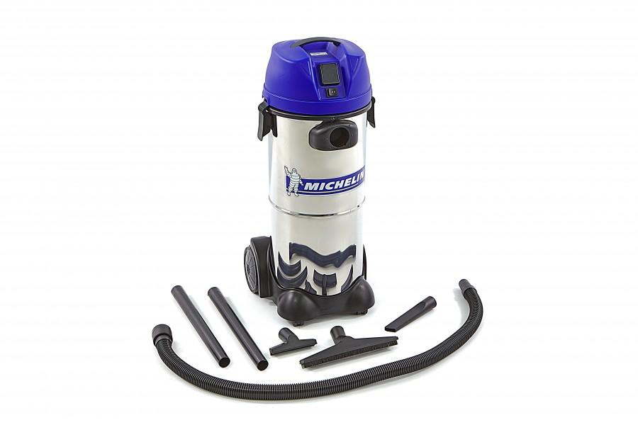 Michelin 1250 Watt Professionele RVS Nat en Droog Bouwstofzuiger