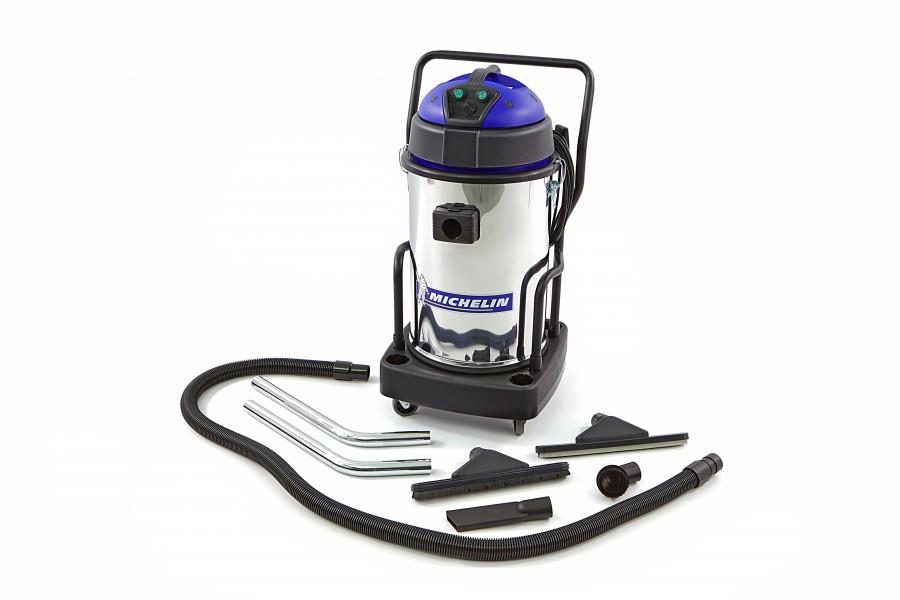 Michelin 2400 Watt Professionele RVS Nat en Droog Bouwstofzuiger