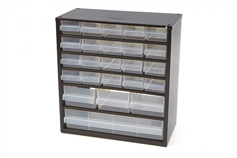 Raaco 24 Laden Metalen Ladenkast Met 10 Tussenschotten
