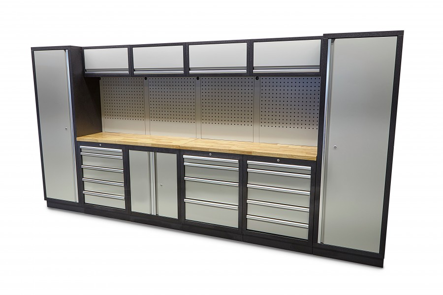 HBM 16 Delig Professioneel Modulair Werkplaats Systeem