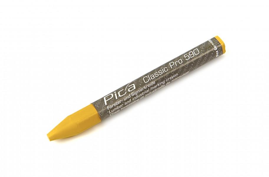 Pica 12st 590/44 Markeerkrijt PRO 12x120 mm Geel