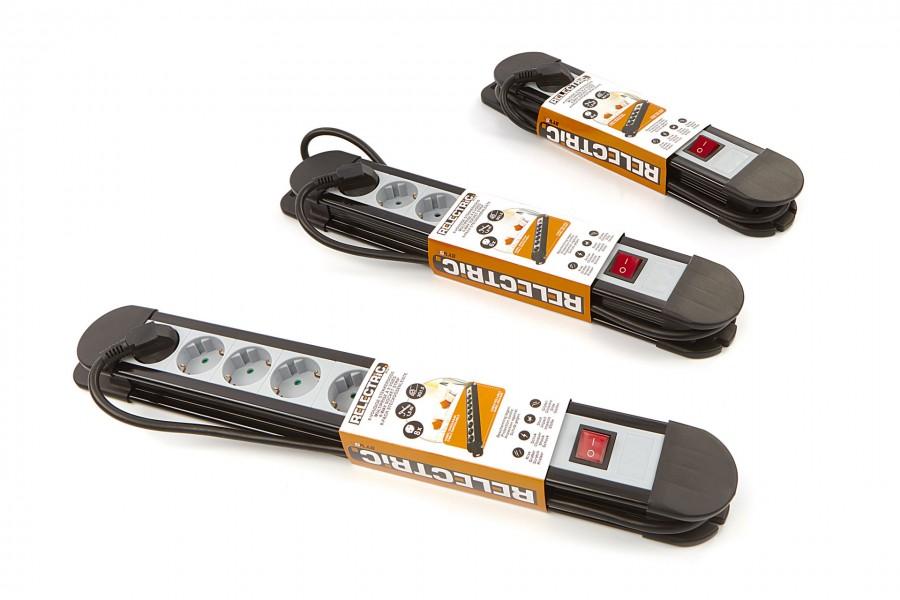 Relectric Stekkerdoos Met 1,5 Meter Kabel 3 x 1,5 mm en Aan / Uit Schakelaar