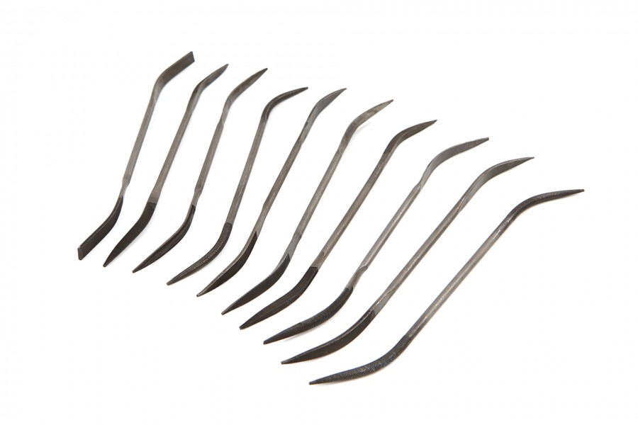 Silverline 10 Delige Dubbelzijdige Sleutelvijlenset 140 mm