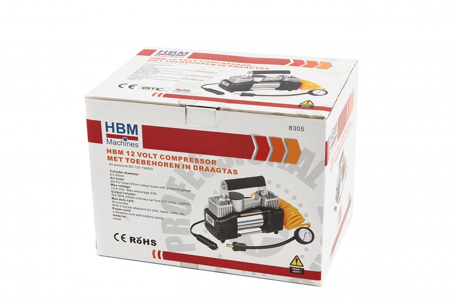 HBM 12 Volt Compressor met Toebehoren in Draagtas