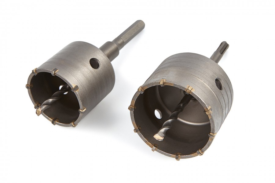 Stahlkaiser 2 Delige Gatzagen, Dozenborenset 65 - 80 mm Met SDS Opname