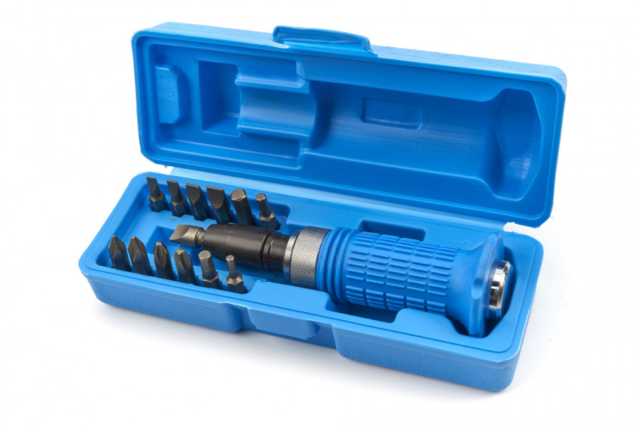 HBM 14 Delige Slagschroevendraaier Set met Soft Grip Anti Slip Handvat