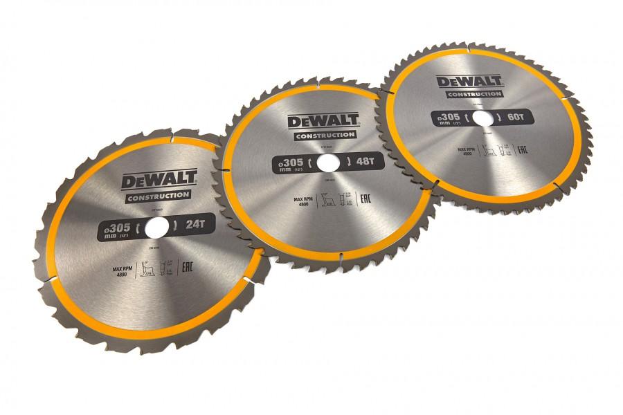 Dewalt Accessoires DT1964-QZ Cirkelzaagblad 305 x 30 mm 3-Pack DT1958-QZ + DT1959-QZ + DT1960QZ