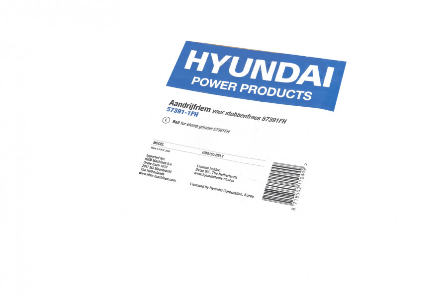 Hyundai Aandrijfriem voor stobbenfrees