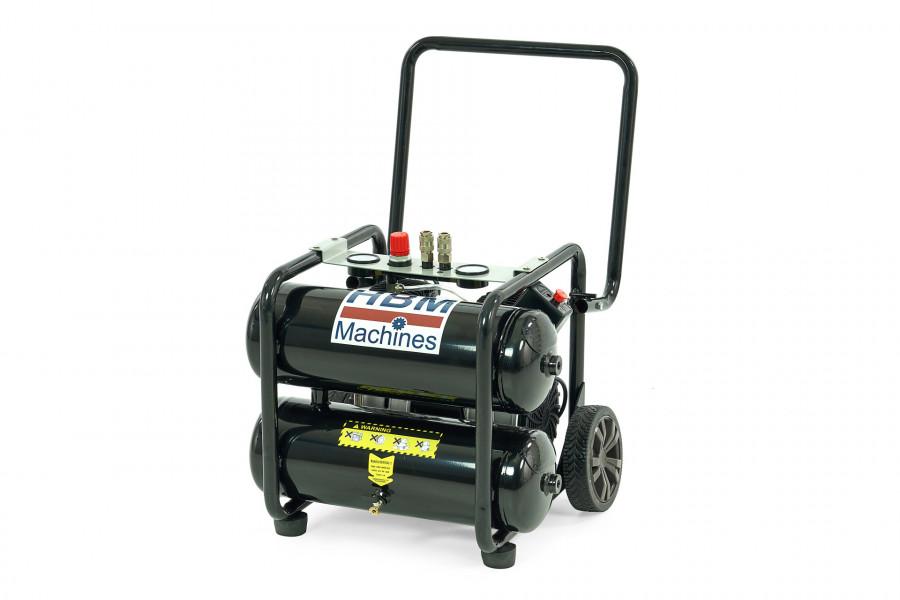HBM 20 Liter 1,5 PK Verrijdbare Professionele Low Noise Compressor