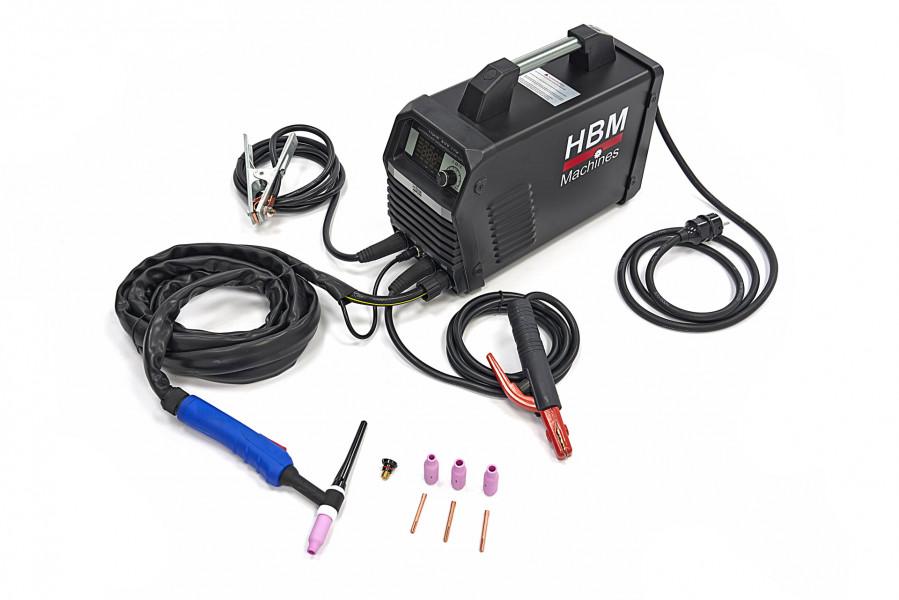 HBM 200MAX TIG Smart Welder Inverter met Digitaal Display en IGBT Technologie
