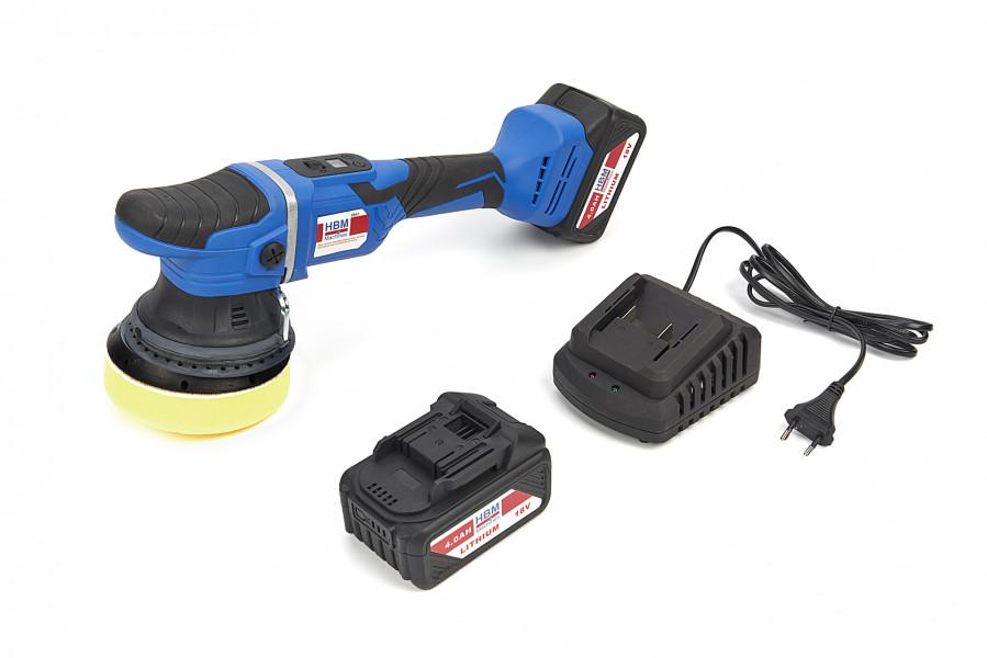 HBM 18 Volt Professionele Dual Action Variabele Polijstmachine op Accu