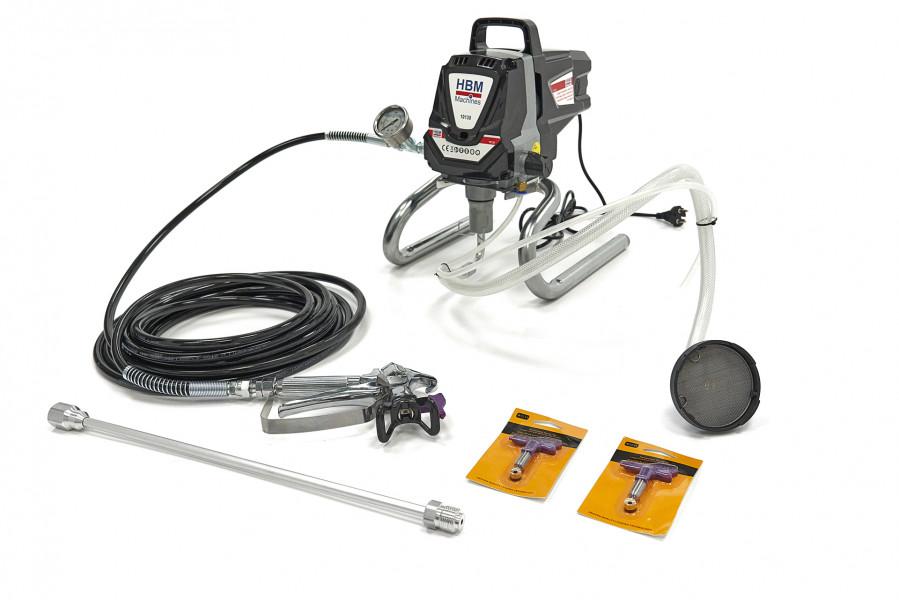 HBM Hogedruk Airless Spuitmachine Verfspuit Wandspuitmachine Set 1010 Watt