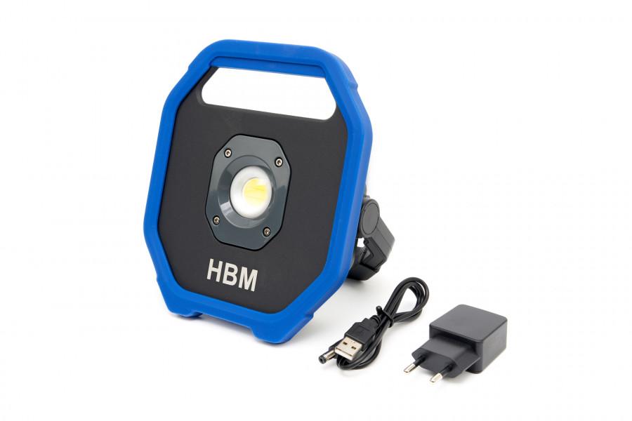 HBM Professionele COB LED Bouwlamp Met 2 Standen 350 – 1100 Lumen