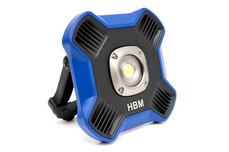 HBM Professionele COB LED Bouwlamp Met 5 Standen Dimbaar van 220 tot 1100 Lumen