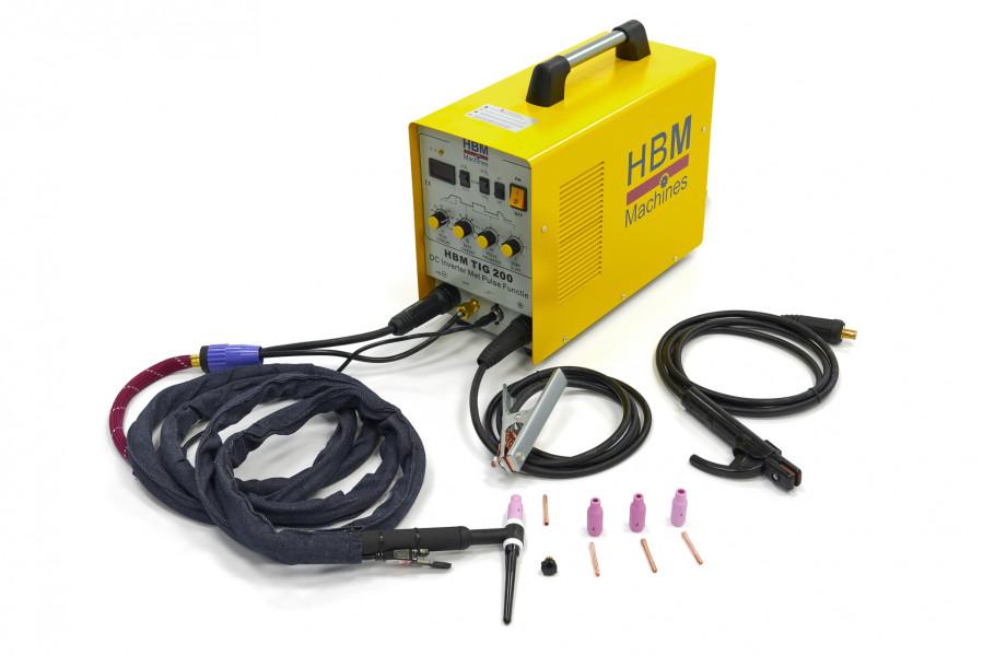 HBM TIG 200 DC Inverter Met Pulse Functie