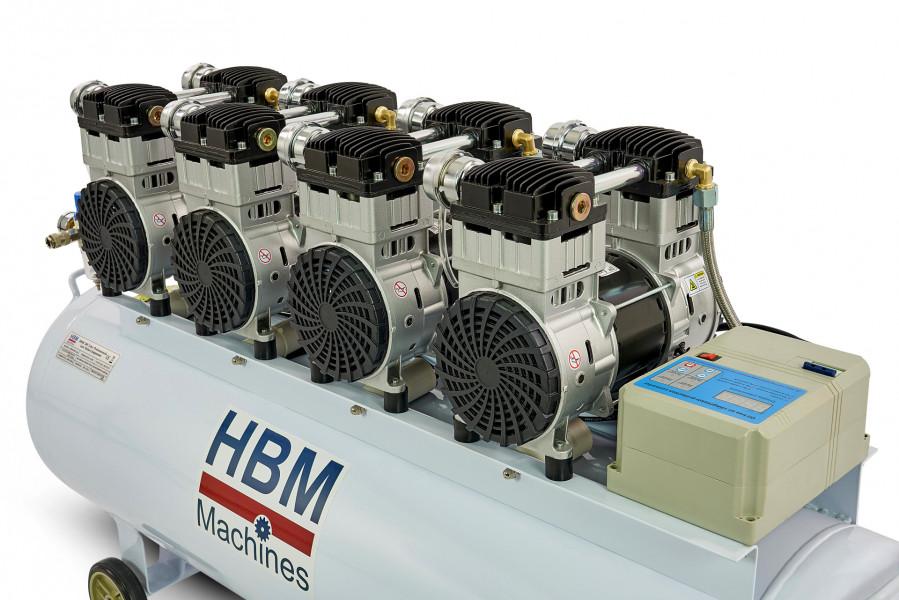 HBM 8 PK - 200 Liter Professionele Low Noise Compressor