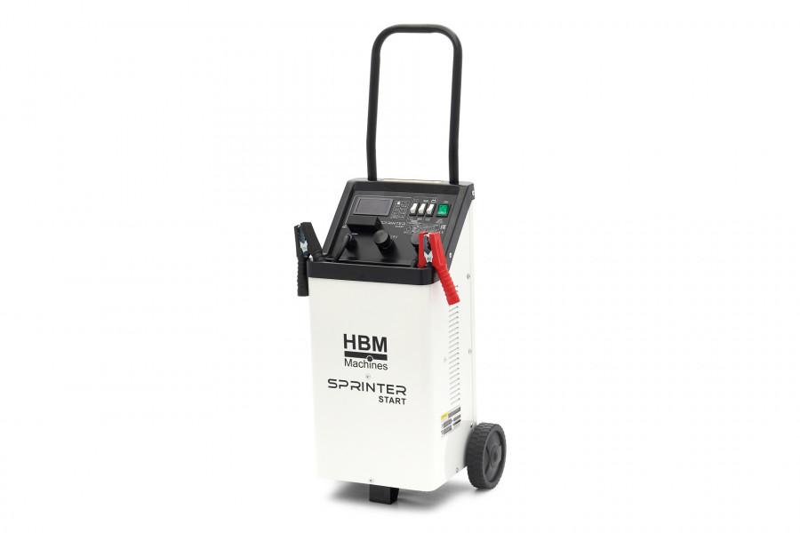 HBM 400A Professionelles digitales Batterieladegerät, Jumpstarter Batterie-Booster 230 Volt 12-24 Volt