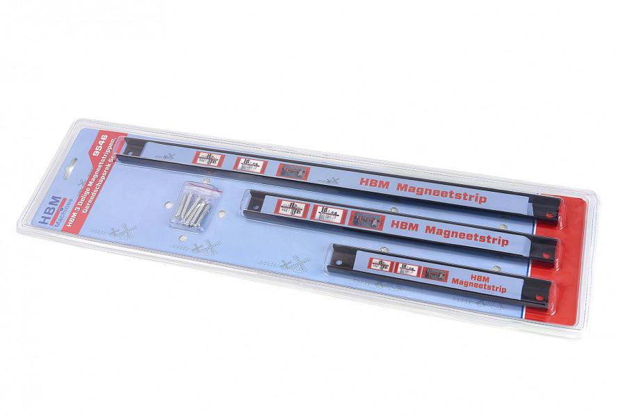 HBM 3 Delige Magneetstrippen, Gereedschapsrek Set