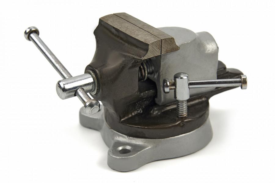 HBM 50 mm Bankschroef met Draaibaar Onderstel