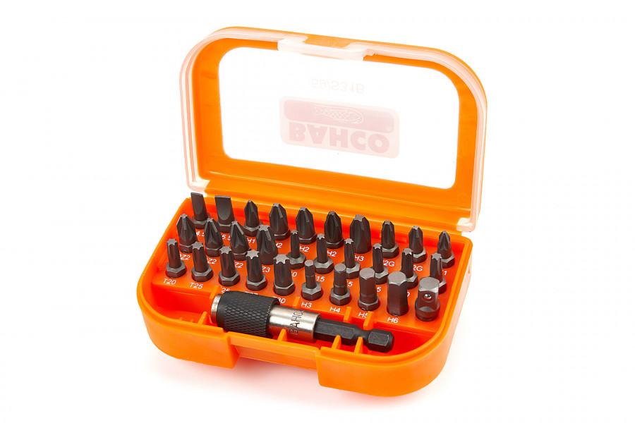 Bahco 31 Delige bitset voor gleuf, Phillips, Pozidriv, TORX®, zeskant schroeven, bit houder en adapter
