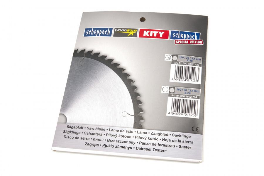 Scheppach 3901802705 HM- Cirkelzaagblad geschikt voor PL55 - 160 x 20 x 48T