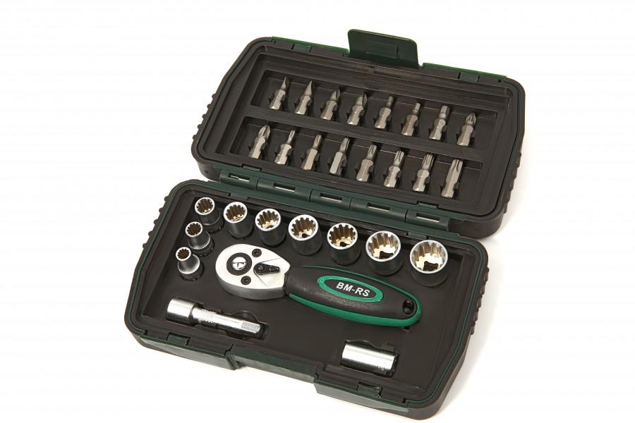 Mannesmann 28 Delige Multilock Dop, Bitset - 29185