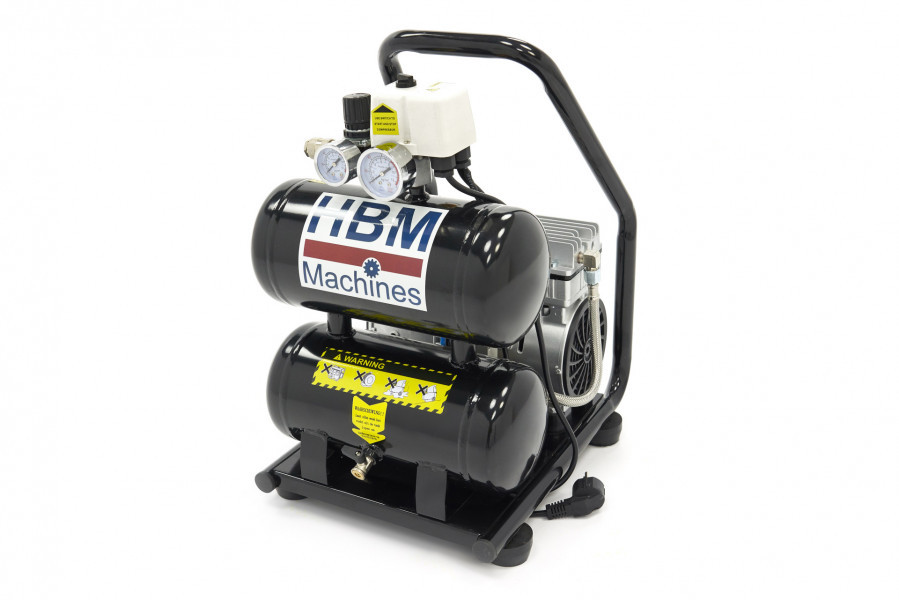 HBM 10 Liter 1,0 Pk Professionele Draagbare Low Noise Compressor