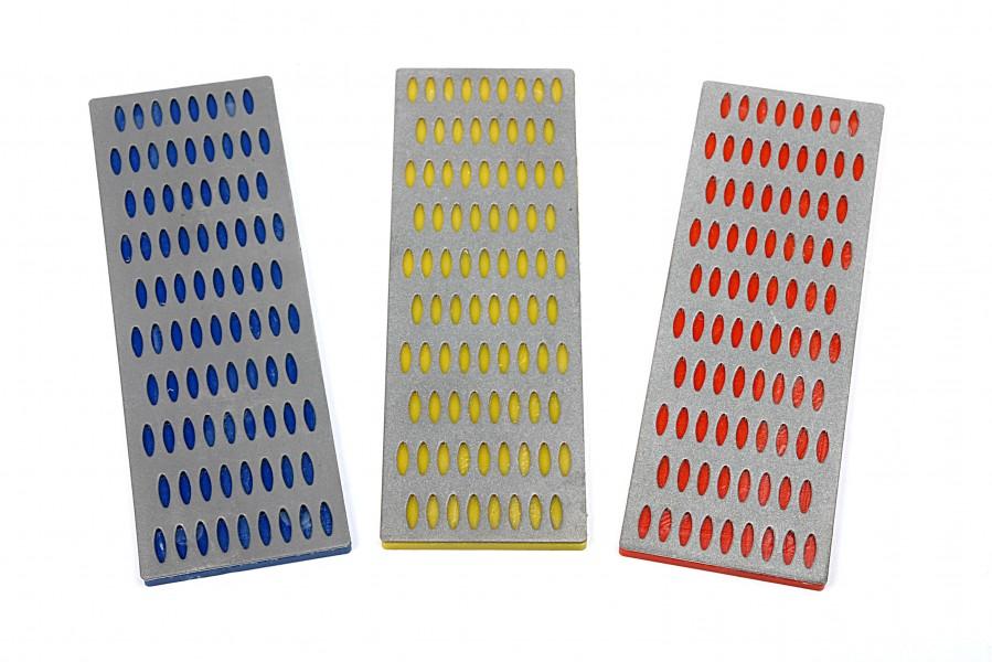 HBM 3 Delige Diamant Wetstenenset 50 x 150 mm