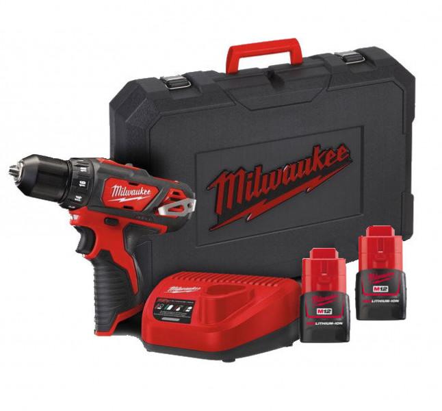 Milwaukee M12BDD-202C Accu Boorschroefmachine 12V 2,0Ah